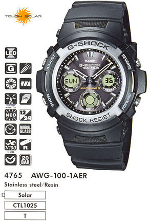Годинник CASIO AWG-100-1AER