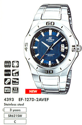 Годинник CASIO EF-127D-2AVEF