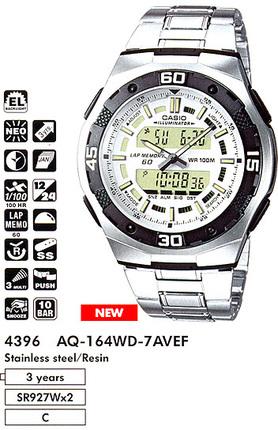Годинник CASIO AQ-164WD-7AVEF