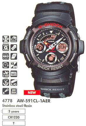 Годинник CASIO AW-591CL-1AER