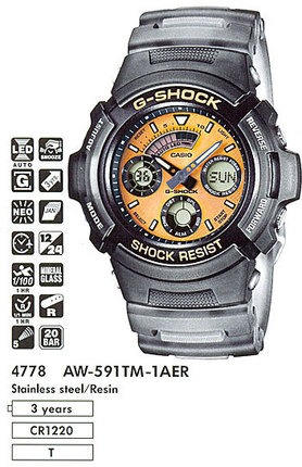 Годинник CASIO AW-591TM-1AER