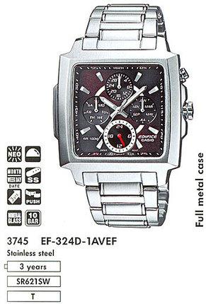 Годинник CASIO EF-324D-1AVEF