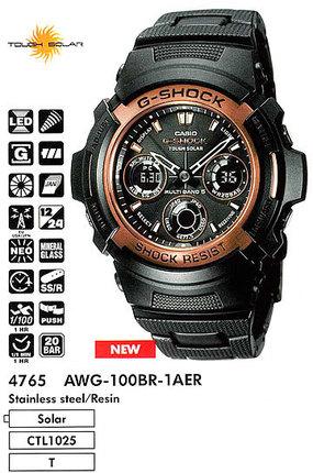 Годинник CASIO AWG-100BR-1AER