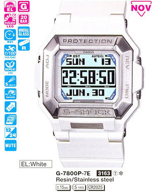 Годинник CASIO G-7800P-7ER