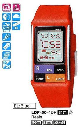 Годинник CASIO LDF-50-4EF