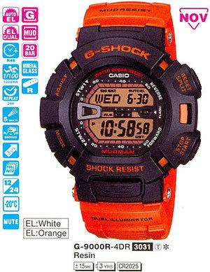 Годинник CASIO G-9000R-4ER