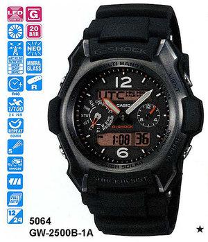 Годинник CASIO GW-2500B-1AER
