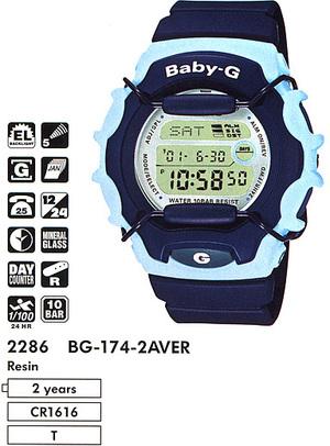 Годинник CASIO BG-174-2AVER
