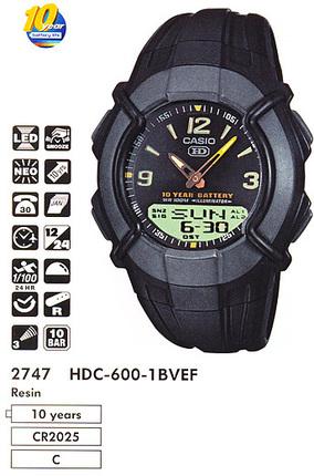 Годинник CASIO HDC-600-1BVEF