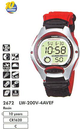 Годинник CASIO LW-200V-4AVEF