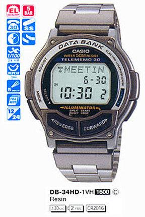 Годинник CASIO DB-34HD-1VH