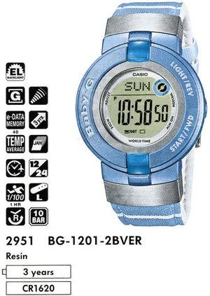 Годинник CASIO BG-1201-2BVER