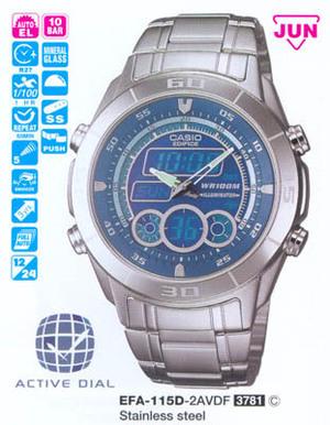 Годинник CASIO EFA-115D-2AVEF