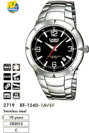 Годинник CASIO EF-124D-1AVEF