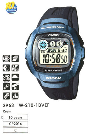 Годинник CASIO W-210-1BVEF