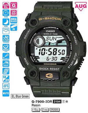 Годинник CASIO G-7900-3ER