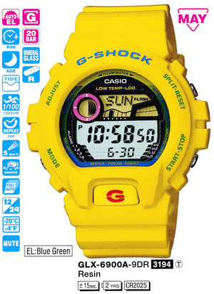 Годинник CASIO GLX-6900A-9ER