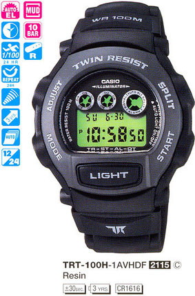 Годинник CASIO TRT-100H-1AVHDF