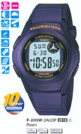 Годинник CASIO F-200W-2ADF