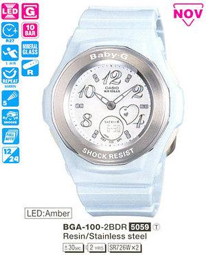 Годинник CASIO BGA-100-2BER