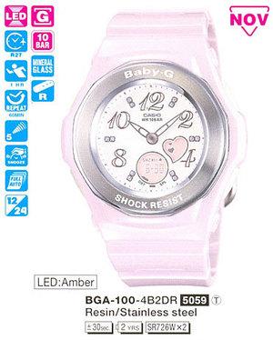 Годинник CASIO BGA-100-4B2ER
