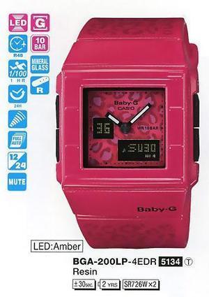 Годинник CASIO BGA-200LP-4EER