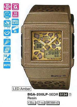 Годинник CASIO BGA-200LP-5EER