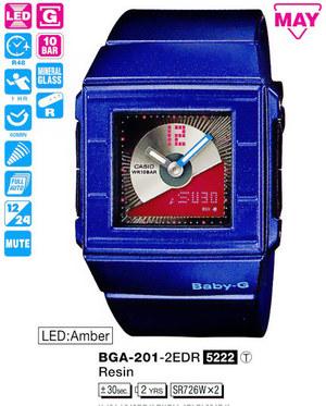 Годинник CASIO BGA-201-2EER