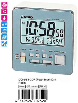 Часы CASIO DQ-981-2ER