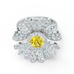 Кольцо Swarovski ETERNAL FLOWER 5520366 55