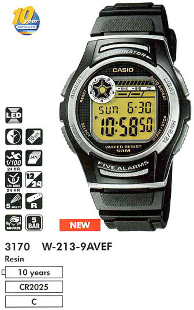 часы casio инструкция 3299