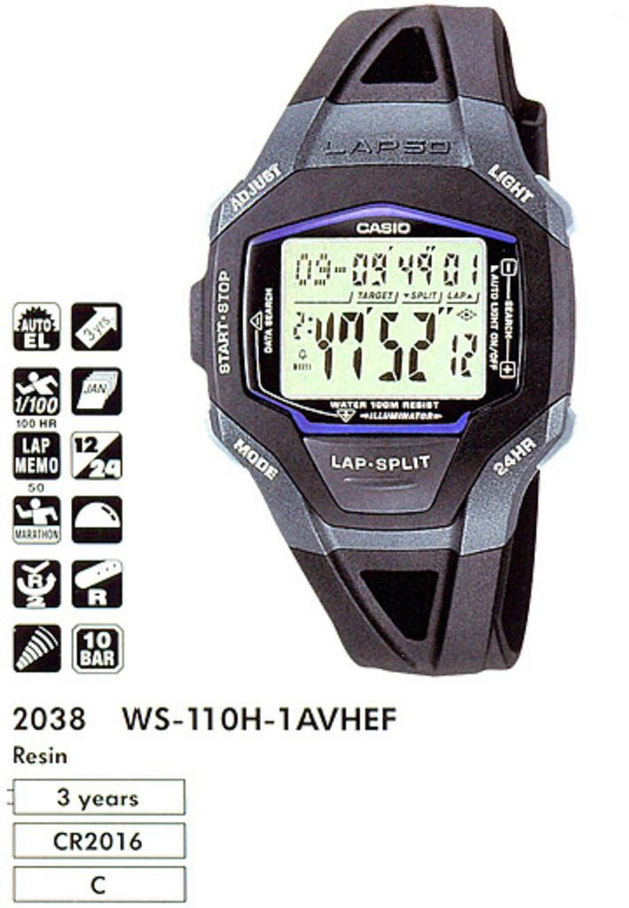 часы casio ws-110h инструкция