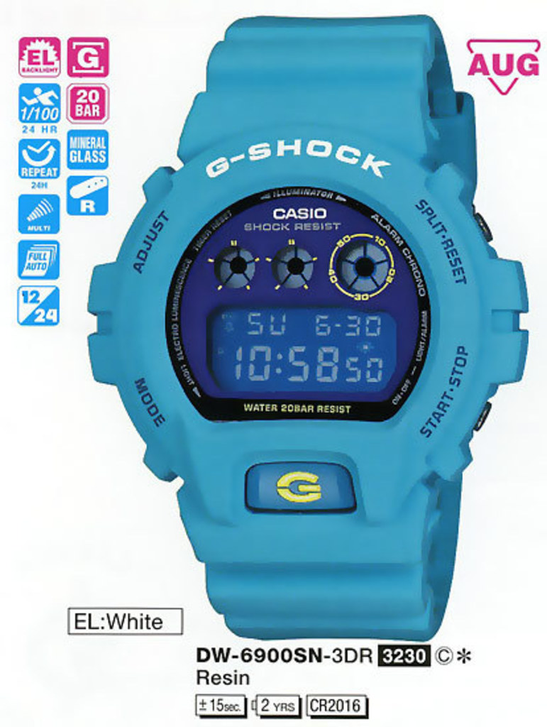 если сих инструкция к часам casio g shock dw 6900 меня