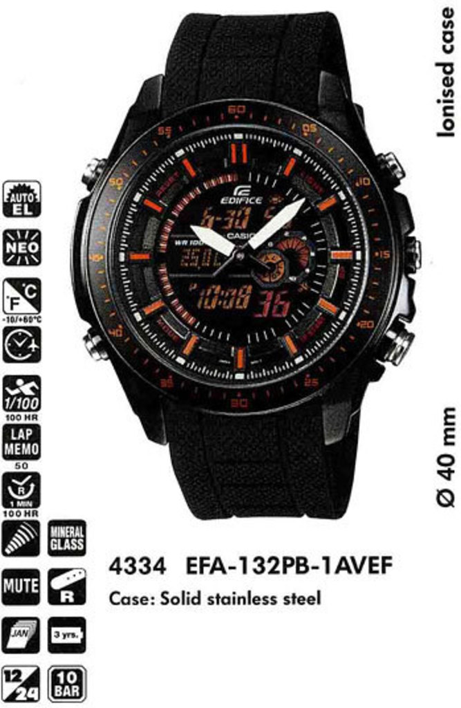 Характеристики Casio EFA-120D-1AVEF - описание и