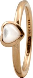 Кільце CC 800-1.3.B/59 Heart mother of pearl goldpl - Дека
