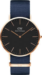 Часы Daniel Wellington DW00100277 Classic 40 Bayswater RG Black - Дека