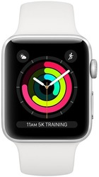 Смарт-часы Apple Watch Series 3 GPS 42mm Silver Aluminium Case with White Sport Band - Дека